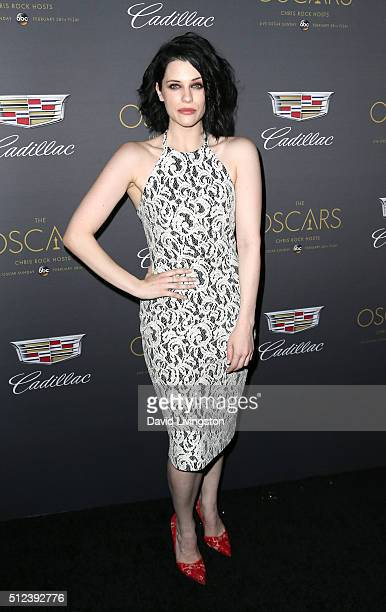 Journalist Jessica De Gouw attends Cadillac's PreOscar Event at Chateau Marmont on February 25 2016 in Los Angeles California
