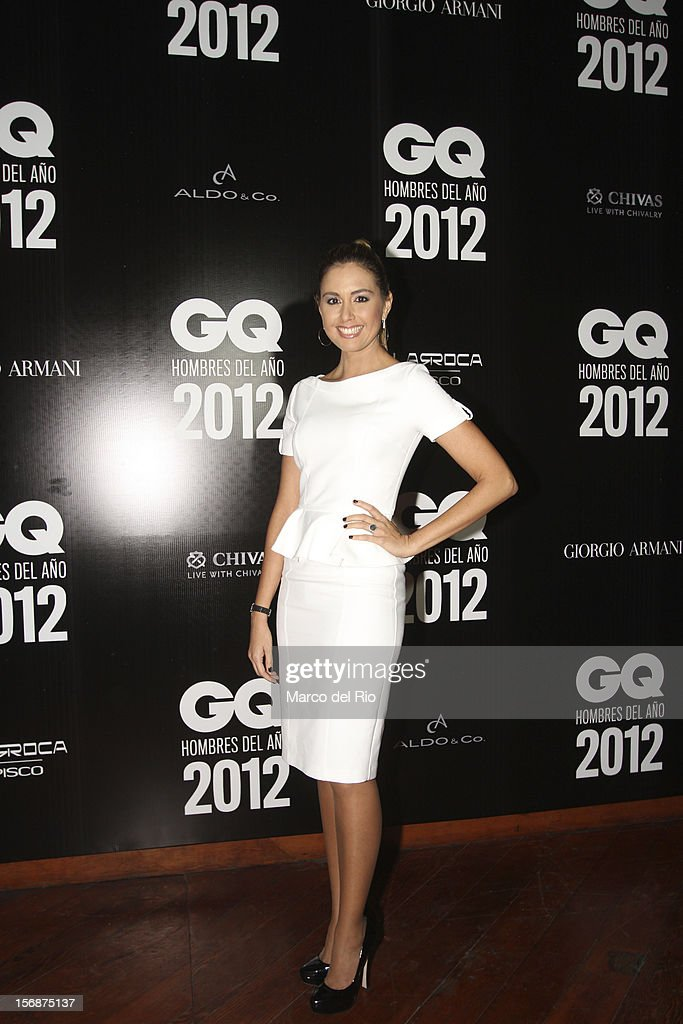 Journalist Jessica Tapia poses during the awards ceremony GQ Men of the Year 2012 at La Huaca Pucllana on November 23, 2012 in Lima, Peru.