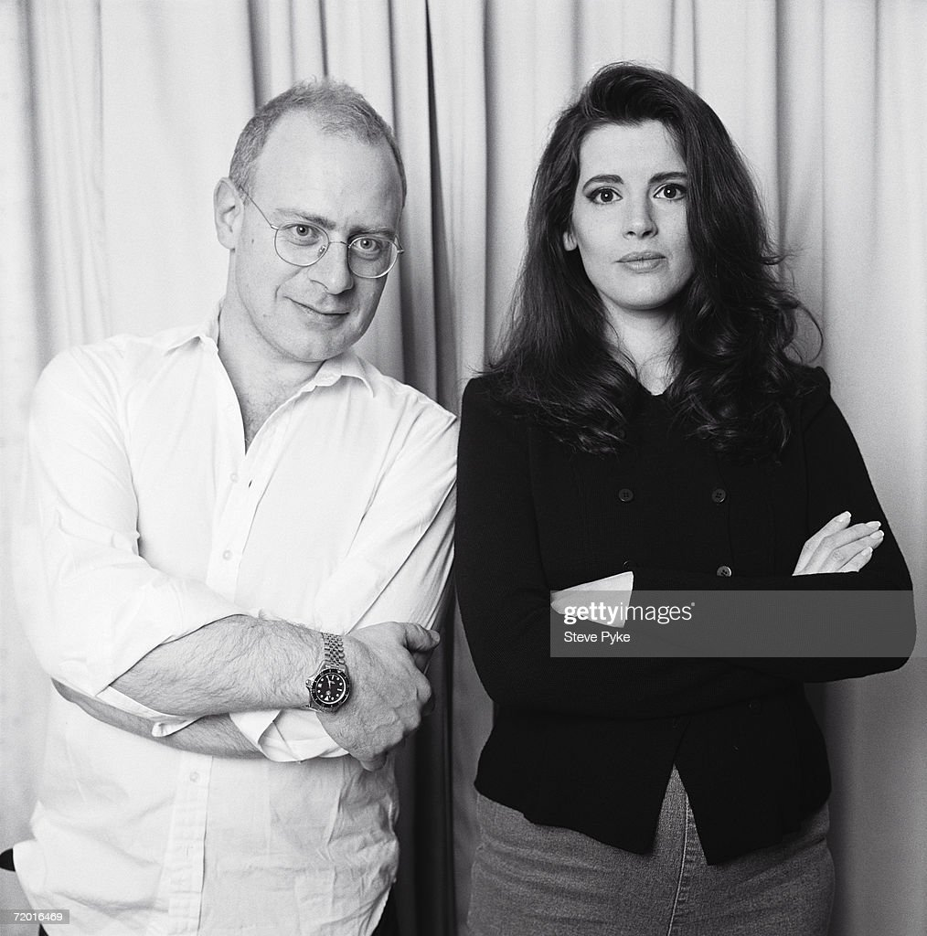 Journalist John Diamond (1953 - 2001), with his wife, fellow journalist and television chef Nigella Lawson, mid 1990s.