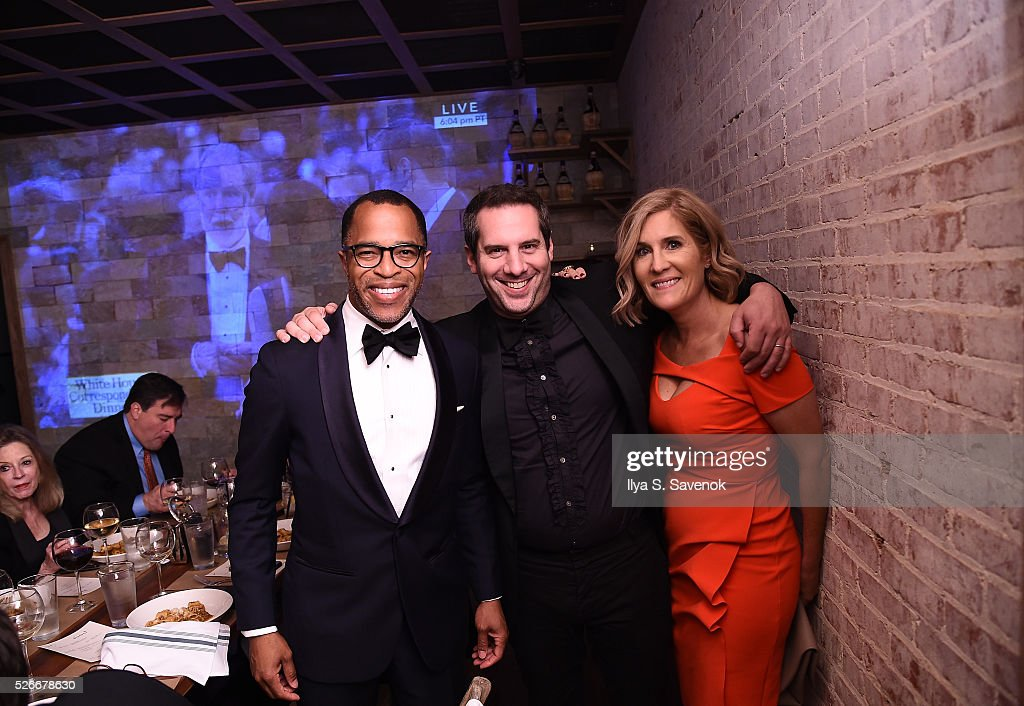 Journalist Jonathan Capehart (L) and Capitol File editor-in-chief Elizabeth Thorp (R) attend the Turnt Limit Hosted By Fusion And Tumblr During WHCD Weekend at Ghibellina on April 30, 2016 in Washington, DC.