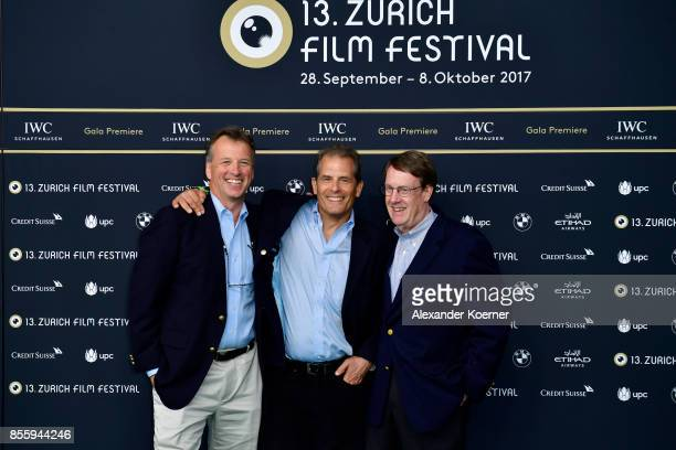 Journalist Jonathan Landay John Walcott and Warren Strobel attend the 'Shock and Awe' premiere at the 13th Zurich Film Festival on September 30 2017...