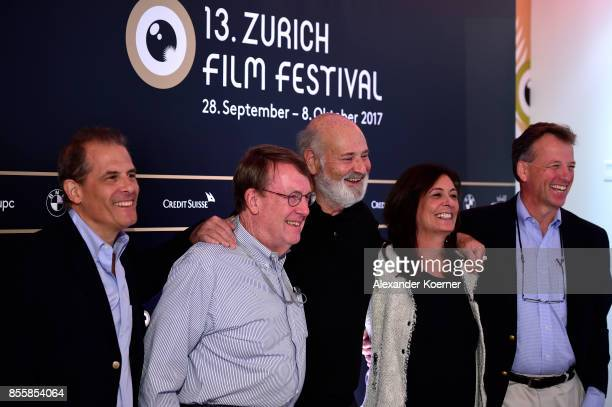 Journalist Jonathan Landay John Walcott Director Rob Reiner Michele Reiner and Warren Strobel arrive at the 'Shock and Awe' press conference during...