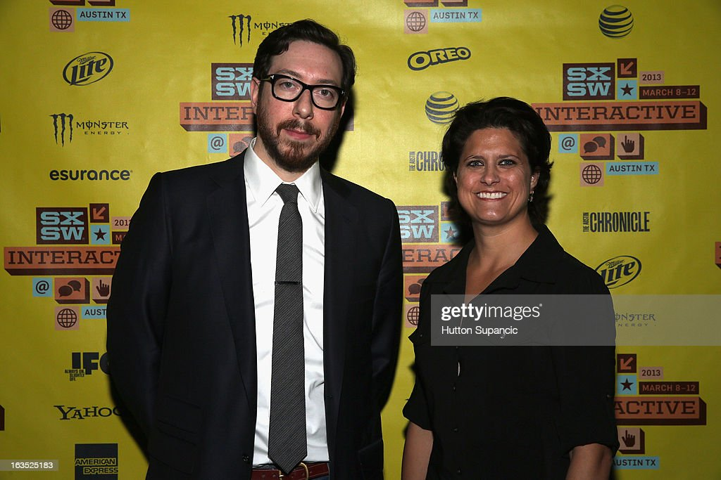 journalist Joshua Topolsky and Founder of OUYA Julie Uhrman attend the Julie Uhrman + Josh Topolsky Keynote during the 2013 SXSW Music, Film + Interactive Festival at Austin Convention Center on March 11, 2013 in Austin, Texas.