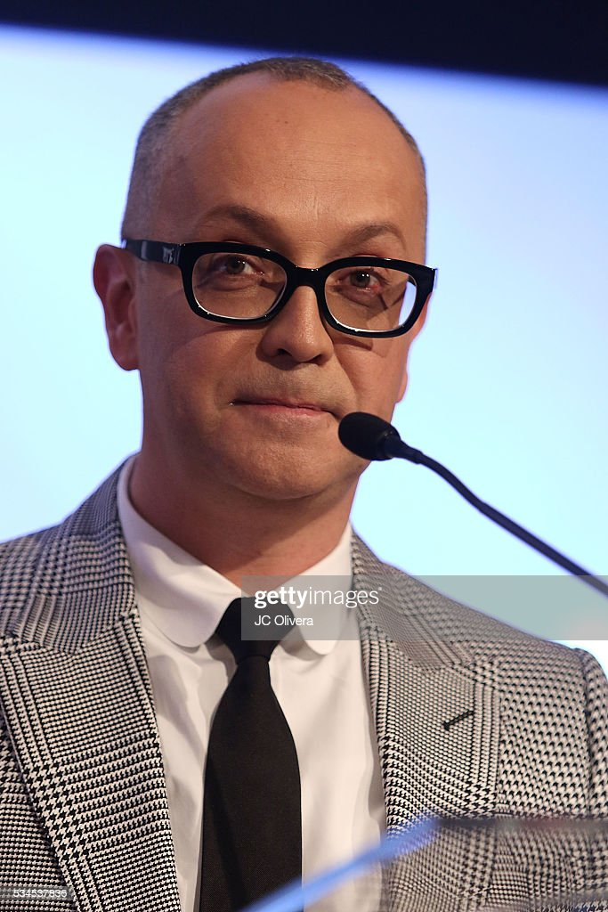 Journalist Juan Carlos Arciniegas speaks during the nomination announcement for The 3rd Annual Premios Platino of Iberoamerican Cinema at The London on May 26, 2016 in West Hollywood, California.