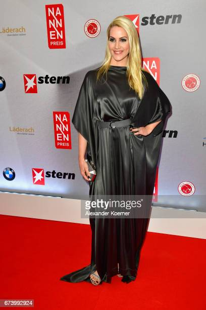 Journalist Judith Rakers attends the Nannen Award 2017 on April 27 2017 in Hamburg Germany