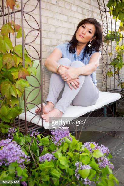 Journalist Juju Chang is photographed for Closer Weekly Magazine on May 26 2016 at home in New York City