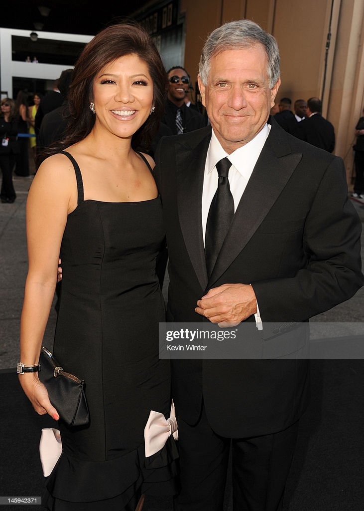 Journalist <a gi-track='captionPersonalityLinkClicked' href=/galleries/search?phrase=Julie+Chen&family=editorial&specificpeople=206213 ng-click='$event.stopPropagation()'>Julie Chen</a> and CBS CEO and president Leslie Moonves arrives at the 40th AFI Life Achievement Award honoring Shirley MacLaine held at Sony Pictures Studios on June 7, 2012 in Culver City, California. The AFI Life Achievement Award tribute to Shirley MacLaine will premiere on TV Land on Saturday, June 24 at 9PM