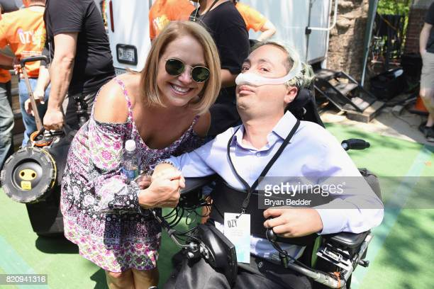 Journalist Katie Couric and activist Victor Pineda attend OZY FEST 2017 Presented By OZYcom at Rumsey Playfield on July 22 2017 in New York City
