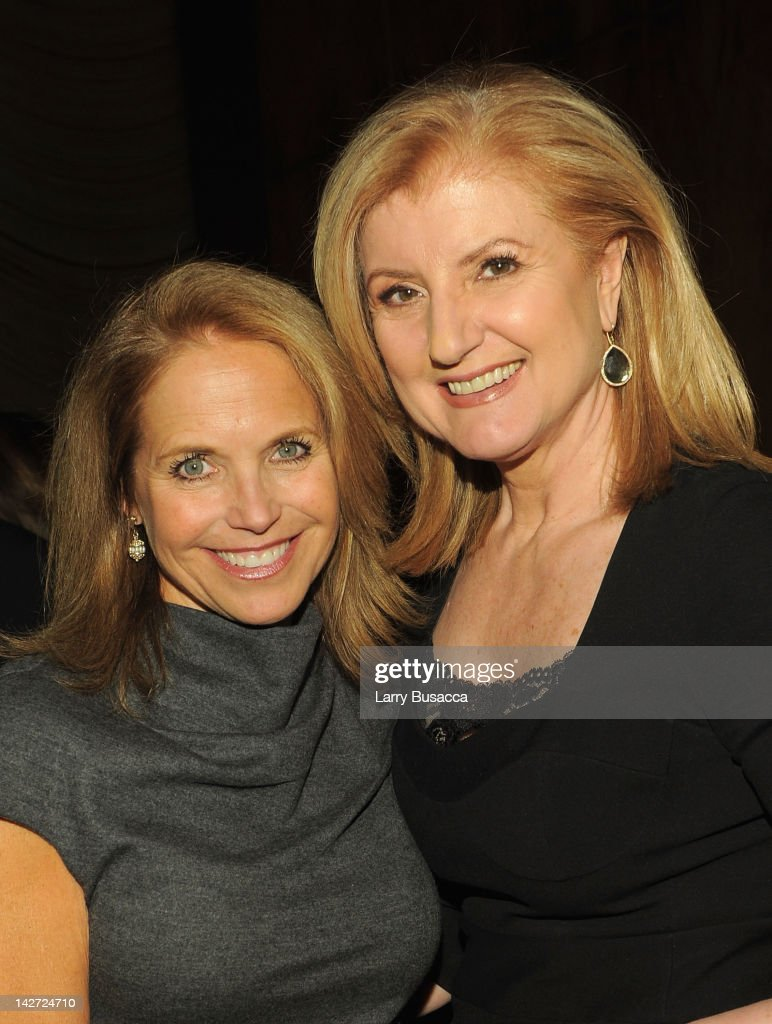 Journalist <a gi-track='captionPersonalityLinkClicked' href=/galleries/search?phrase=Katie+Couric&family=editorial&specificpeople=202633 ng-click='$event.stopPropagation()'>Katie Couric</a> (L) and <a gi-track='captionPersonalityLinkClicked' href=/galleries/search?phrase=Arianna+Huffington&family=editorial&specificpeople=204730 ng-click='$event.stopPropagation()'>Arianna Huffington</a>, president and editor-in-chief of the Huffington Post Media Group attend the Hollywood Reporter celebration of 'The 35 Most Powerful People in Media' at the Four Season Grill Room on April 11, 2012 in New York City.