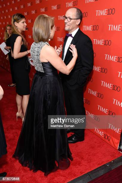 Journalist Katie Couric and DNC Chairman Tom Perez attend 2017 Time 100 Gala at Frederick P Rose Hall Jazz at Lincoln Center on April 25 2017 in New...