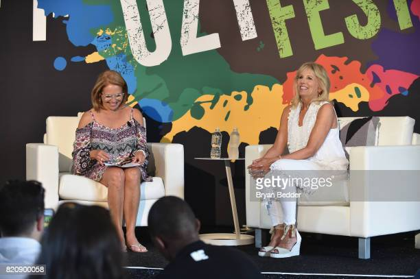 Journalist Katie Couric and Former Second Lady of the United States Dr Jill Biden speak onstage during OZY FEST 2017 Presented By OZYcom at Rumsey...