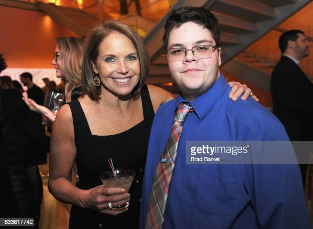 Journalist Katie Couric and Gavin Grimm attend as National Geographic hosts the world premiere screening of 'Gender Revolution A Journey With Katie...