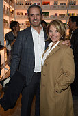Journalist Katie Couric and John Molner arrive at the New York premiere of 'Hello My Name Is Doris' hosted by Roadside Attractions with The Cinema...