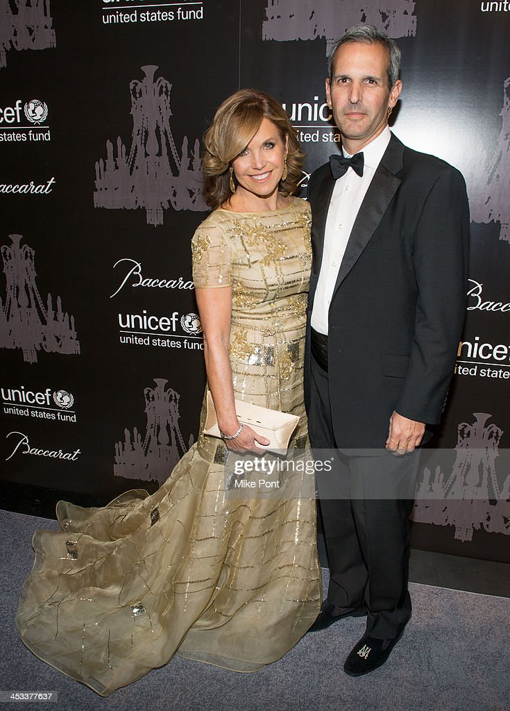 Journalist Katie Couric and John Molner attend the 9th annual UNICEF Snowflake Ball at Cipriani Wall Street on December 3 2013 in New York City