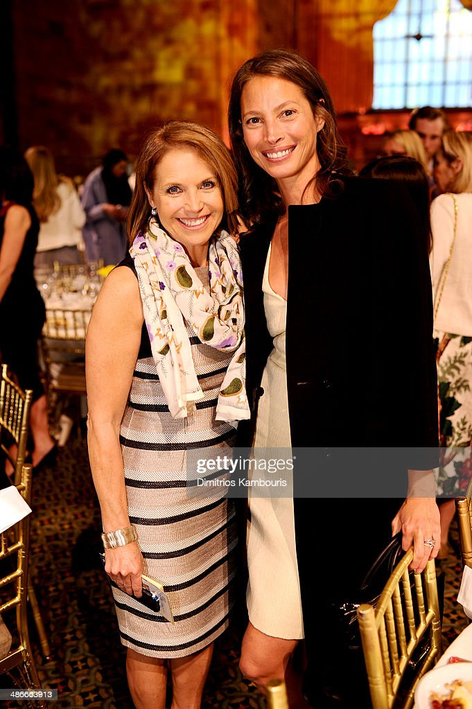 Journalist Katie Couric and model Christy Turlington attend Variety Power Of Women New York presented by FYI at Cipriani 42nd Street on April 25 2014...