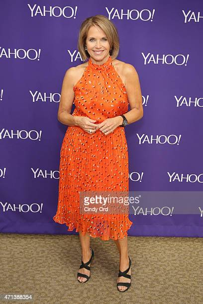 Journalist Katie Couric attends the 2015 Yahoo Digital Content NewFronts at Avery Fisher Hall on April 27 2015 in New York City