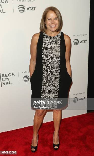Journalist Katie Couric attends the 2017 Tribeca Film Festival 'Genius' screening at BMCC Tribeca PAC on April 20 2017 in New York City