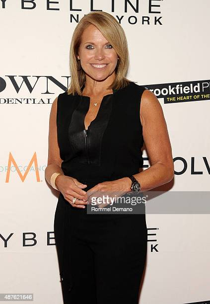 Journalist Katie Couric attends The Daily Front Row's Third Annual Fashion Media Awards at the Park Hyatt New York on September 10 2015 in New York...