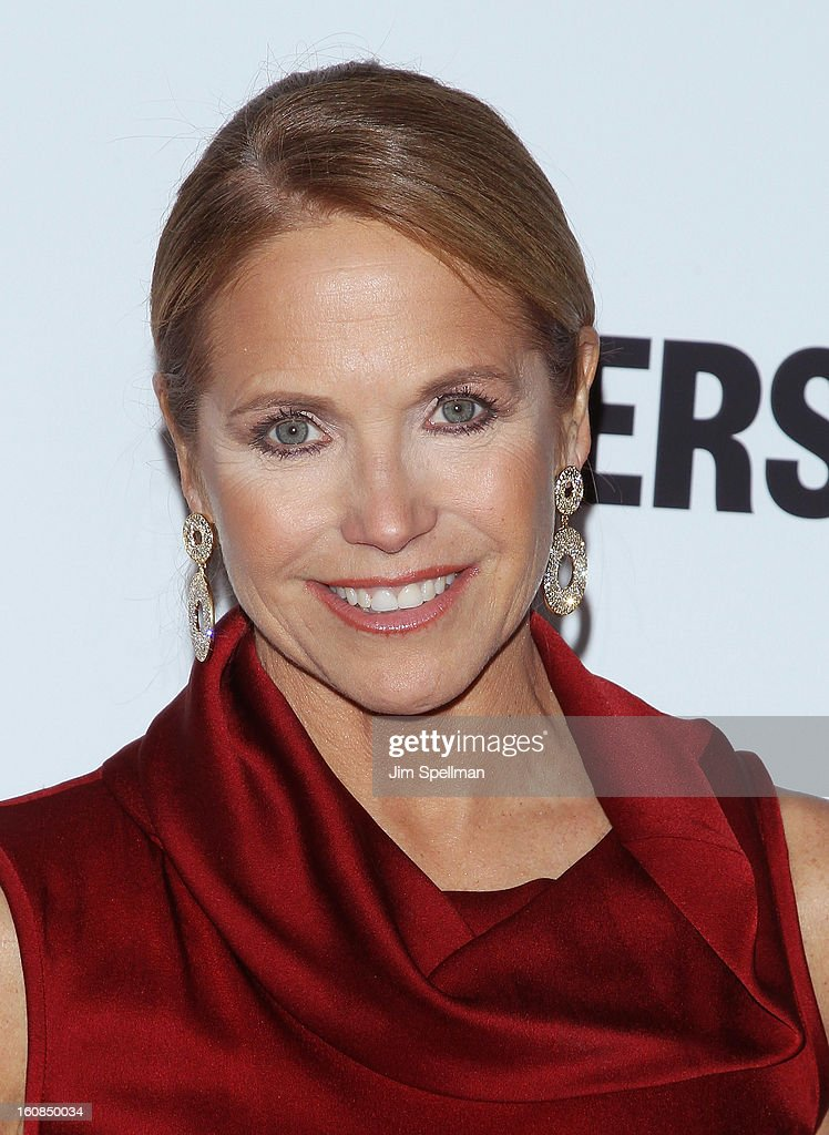 Journalist Katie Couric attends the 'Makers: Women Who Make America' New York Premiere at Alice Tully Hall at Lincoln Center on February 6, 2013 in New York City.