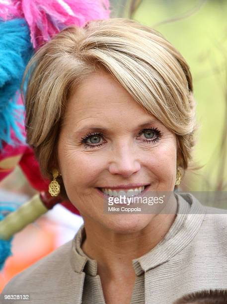 Journalist Katie Couric attends the tree planting ceremony at Madison Square Park on April 8 2010 in New York City