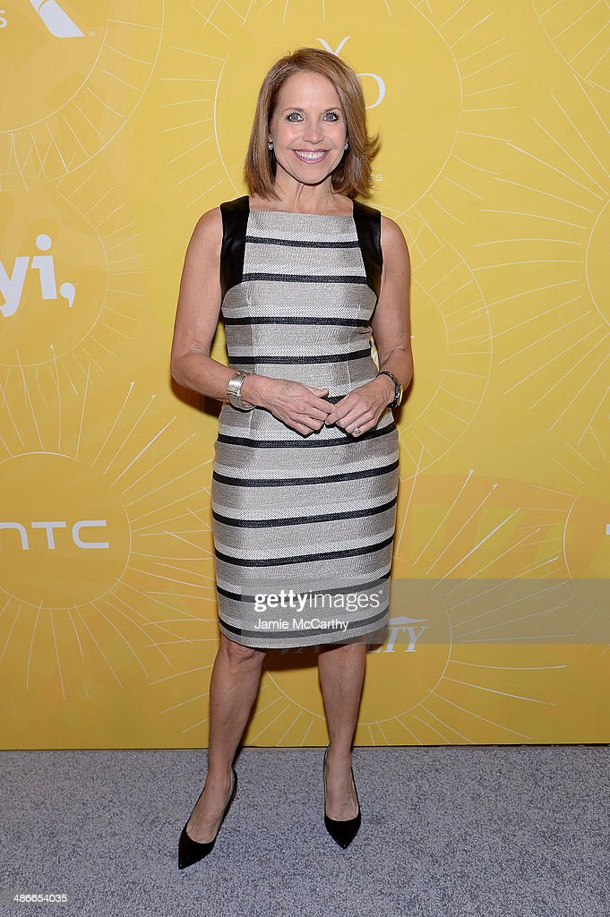 Journalist <a gi-track='captionPersonalityLinkClicked' href=/galleries/search?phrase=Katie+Couric&family=editorial&specificpeople=202633 ng-click='$event.stopPropagation()'>Katie Couric</a> attends Variety Power Of Women: New York presented by FYI at Cipriani 42nd Street on April 25, 2014 in New York City.
