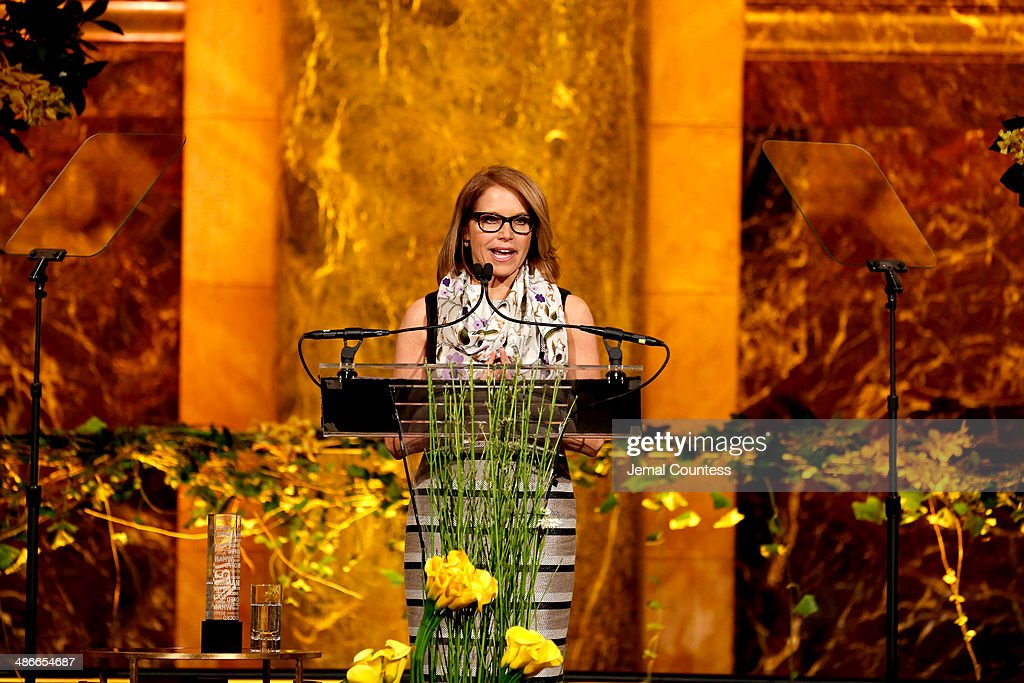 Journalist Katie Couric speaks onstage at Variety Power Of Women New York presented by FYI at Cipriani 42nd Street on April 25 2014 in New York City
