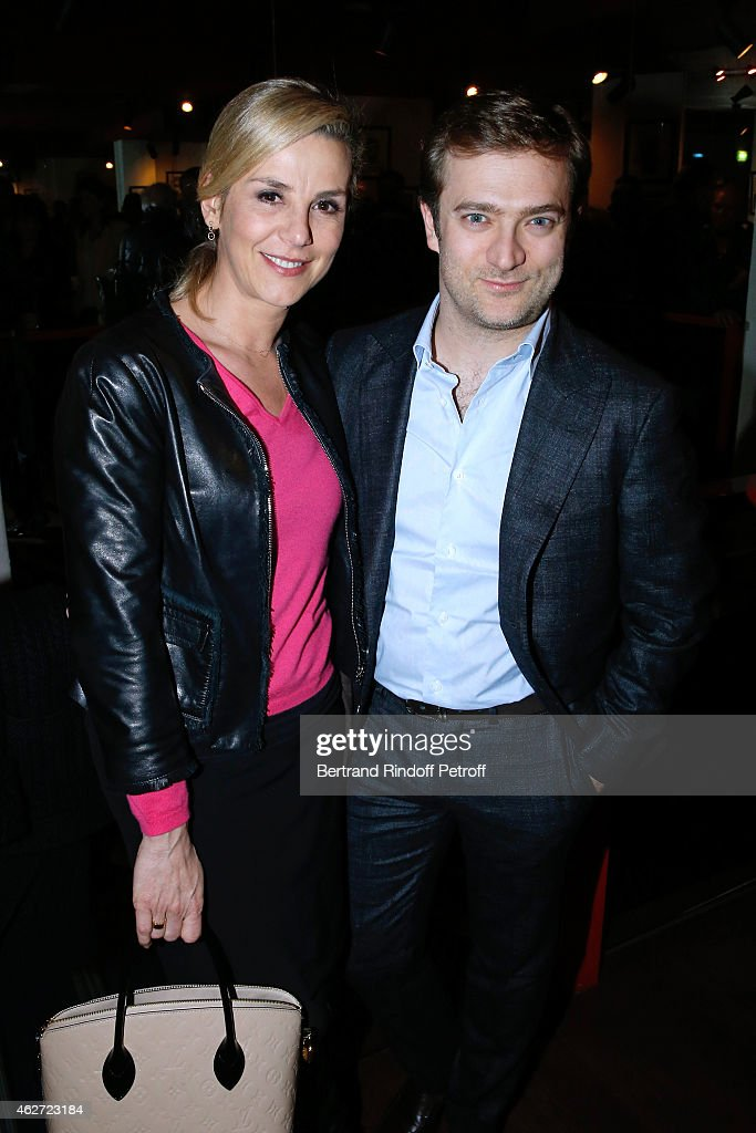 Journalist <a gi-track='captionPersonalityLinkClicked' href=/galleries/search?phrase=Laurence+Ferrari&family=editorial&specificpeople=777181 ng-click='$event.stopPropagation()'>Laurence Ferrari</a> and her companion Violonist Renaud Capucon attend the Private Screening of the Movie 'Tout Peut Arriver' at Mac Mahon Cinema on February 3, 2015 in Paris, France. This film is the first film of Philippe Labro. It will be broadcast on the TV channel D8 Sunday, February 22, 2015