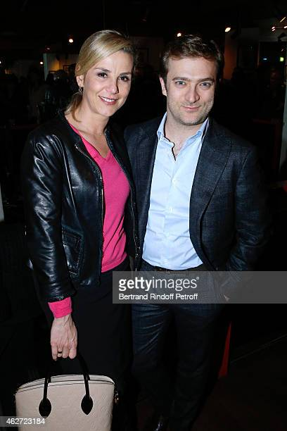Journalist Laurence Ferrari and her companion Violonist Renaud Capucon attend the Private Screening of the Movie 'Tout Peut Arriver' at Mac Mahon...