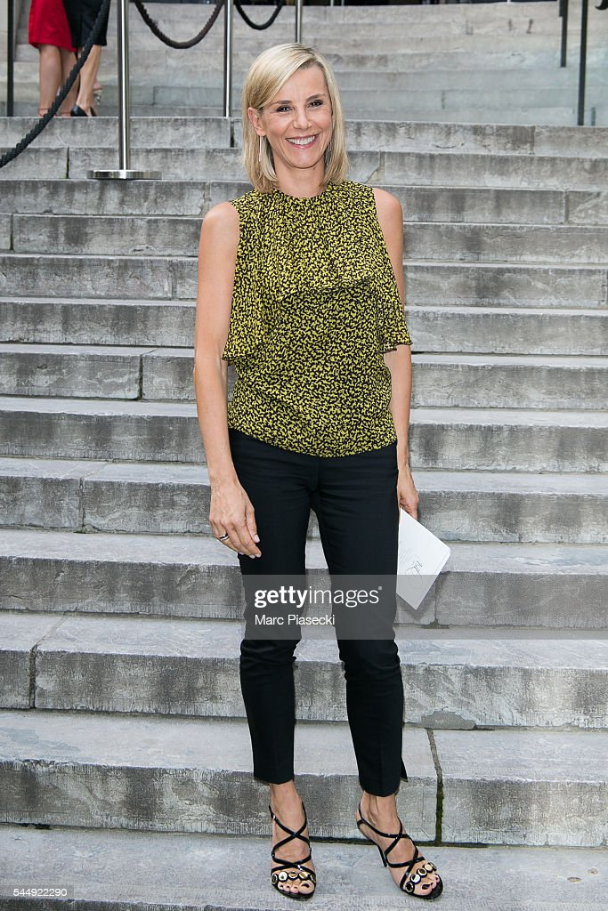 Journalist Laurence Ferrari attends the Giambattista Valli Haute Couture Fall/Winter 20162017 show as part of Paris Fashion Week on July 4 2016 in...