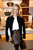 Journalist Laurence Ferrari attends the Longchamp Elysees 'Lights On Party' Boutique Launch on December 4 2014 in Paris France