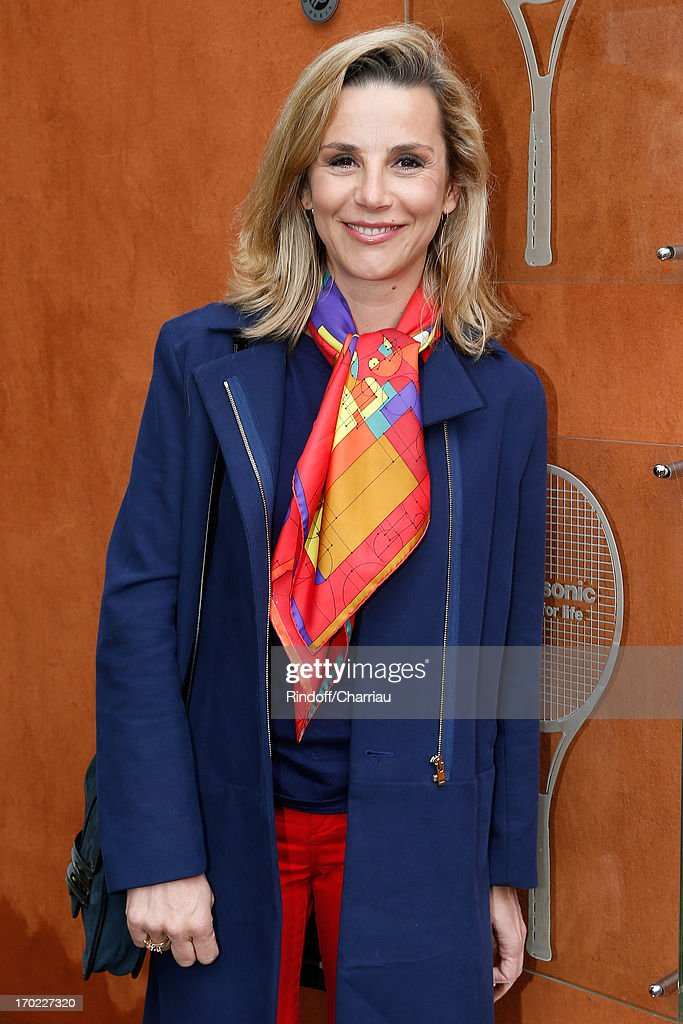 Journalist Laurence Ferrari attends the Roland Garros Tennis French Open 2013 Day 15 on June 9 2013 in Paris France