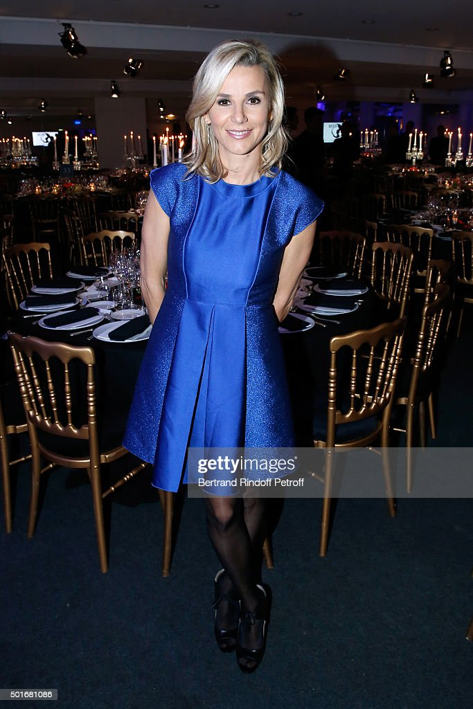 Journalist <a gi-track='captionPersonalityLinkClicked' href=/galleries/search?phrase=Laurence+Ferrari&family=editorial&specificpeople=777181 ng-click='$event.stopPropagation()'>Laurence Ferrari</a>, dressed in Longchamp, attends the Annual Charity Dinner hosted by the AEM Association Children of the World for Rwanda. Held at Espace Cardin on December 16, 2015 in Paris, France.