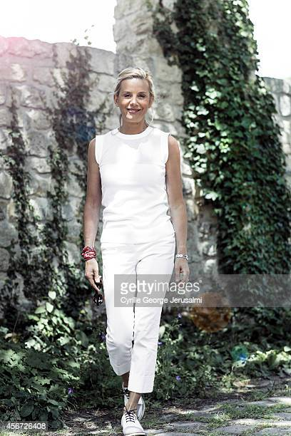 Journalist Laurence Ferrari is photographed for Gala on July 15 2014 in Paris France