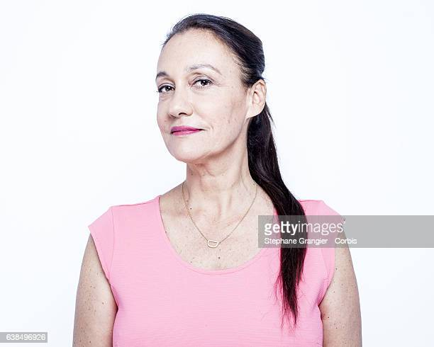 Journalist Laurence Haim poses during a photoshoot on July 07 2014 in Boulogne Billancourt France