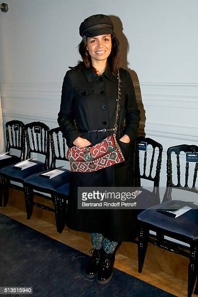 Journalist Laurence Roustandjee attends the Alexis Mabille show as part of the Paris Fashion Week Womenswear Fall/Winter 2016/2017 Held at Hotel...