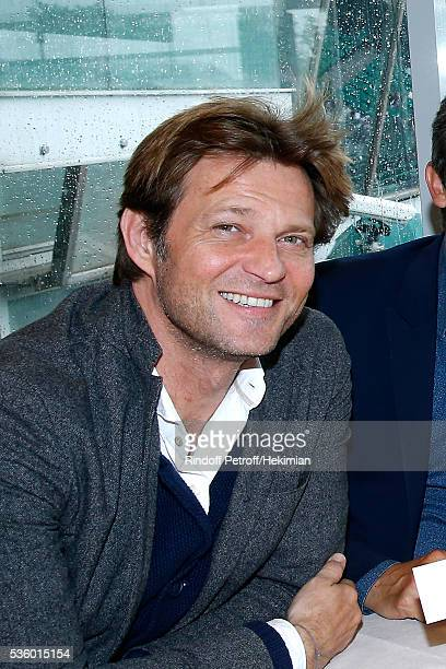 Journalist Laurent Delahousse attends the 'France Television' Lunch during Day Ten of the 2016 French Tennis Open at Roland Garros on May 31 2016 in...