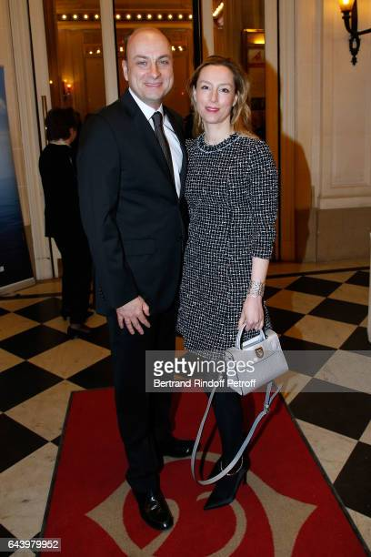 Journalist Laurent Delpech and Editor in Chief of 'Point de Vue' Adelaide de Clermont Tonnerre attend the celebration of the 10th Anniversary of the...