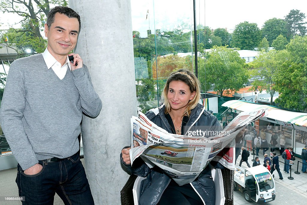 Celebrities At French Open 2013 - Day 9