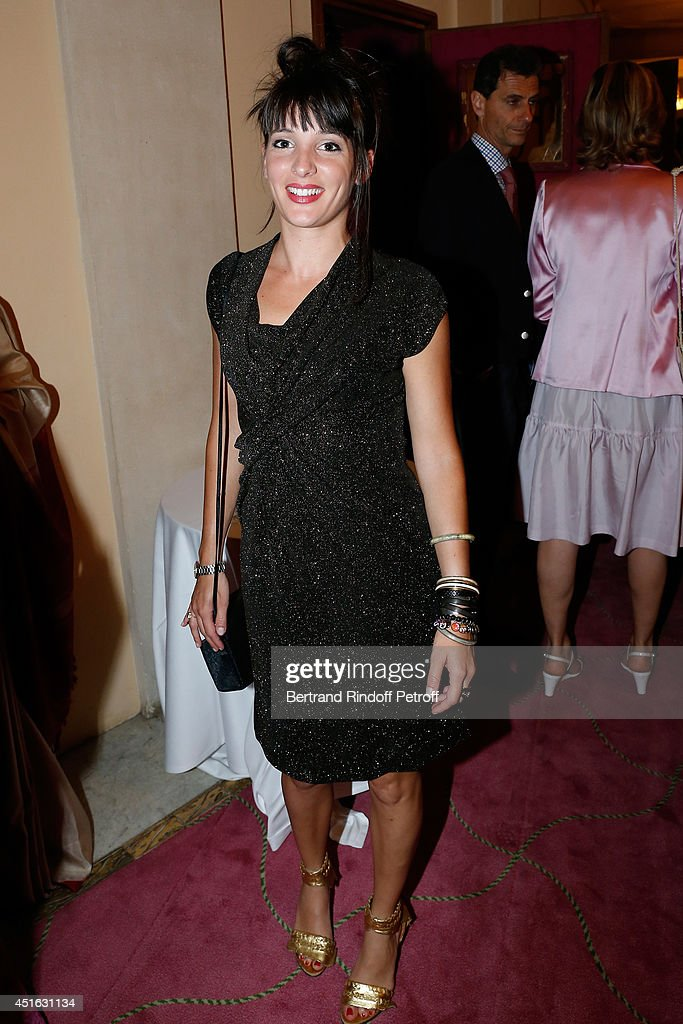 Journalist LCI Erika Moulet attends the '20th Amnesty International France' : Gala 'Music against oblivion'. Held at Theatre des Champs-Elysees on July 2, 2014 in Paris, France.
