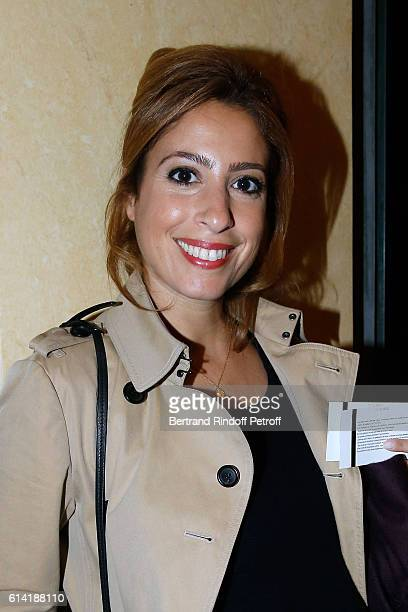 Journalist Lea Salame attends the 'A Droite A Gauche' Theater Play at Theatre des Varietes on October 12 2016 in Paris France