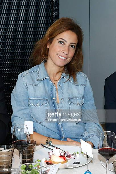 Journalist Lea Salame attends the 'France Television' Lunch during Day Fourteen Women single's Final of the 2016 French Tennis Open at Roland Garros...