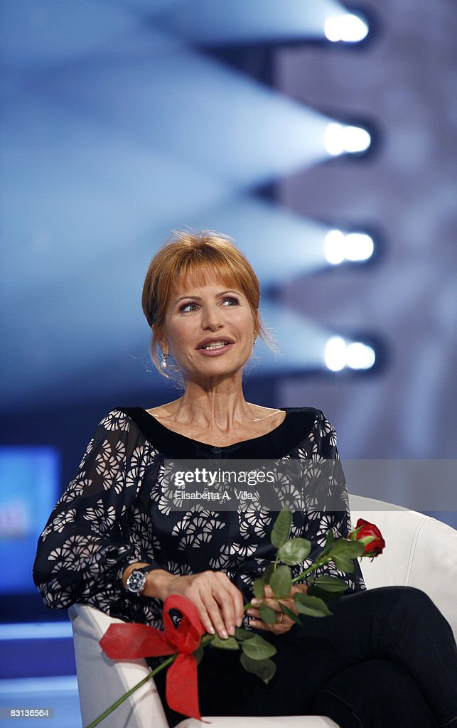 Journalist Lilli Gruber attends the Italian Television Show 'Domenica In' held at RAI Studios on October 5 2008 in Rome Italy