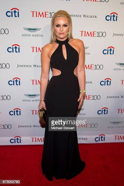 Journalist Lindsey Vonn attends the 2017 TIME 100 Gala at Jazz at Lincoln Center on April 25 2017 in New York City