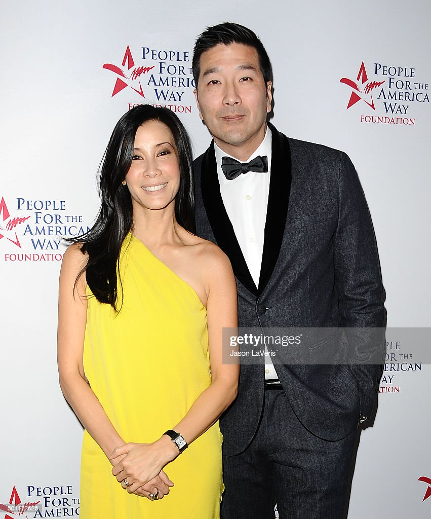 Journalist Lisa Ling and Dr Paul Song attend the 2015 Spirit of Liberty Awards dinner at the Beverly Wilshire Four Seasons Hotel on December 12 2015...
