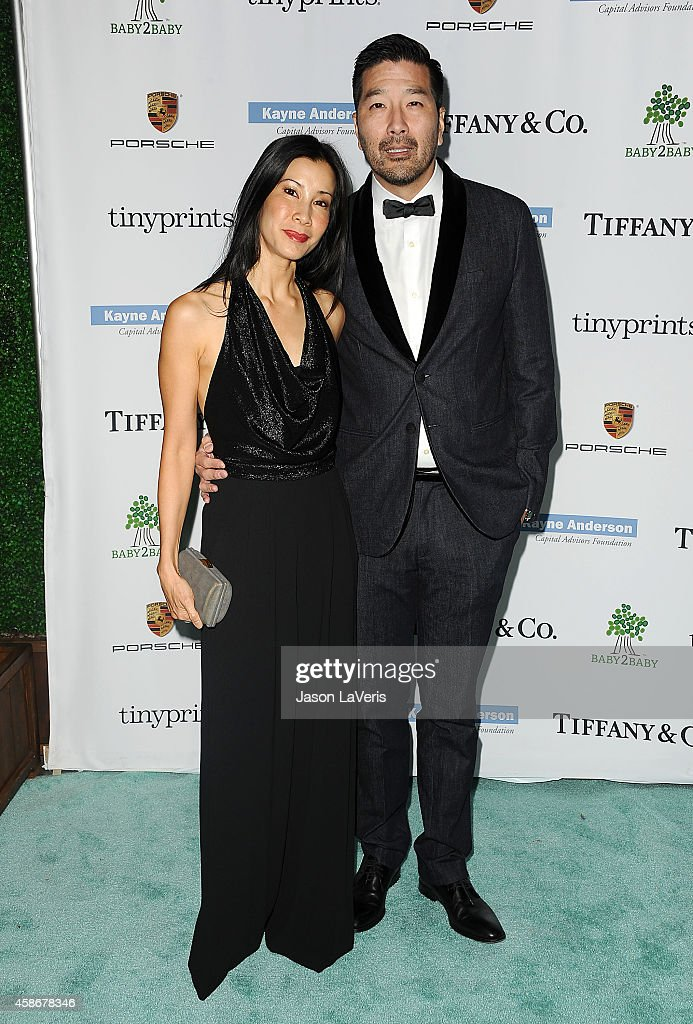 Journalist Lisa Ling and husband Dr Paul Song attend the 2014 Baby2Baby gala at The Book Bindery on November 8 2014 in Culver City California