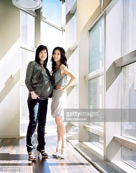 Journalist Lisa Ling is photographed with sister Laura Ling for Glamour Magazine on April 26 2010 in New York City