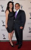 Journalist Lu Parker and Los Angeles Mayor Antonio Villaraigosa arrive at the Academy Of Television Arts Sciences 63rd Los Angeles Area Emmy Awards...