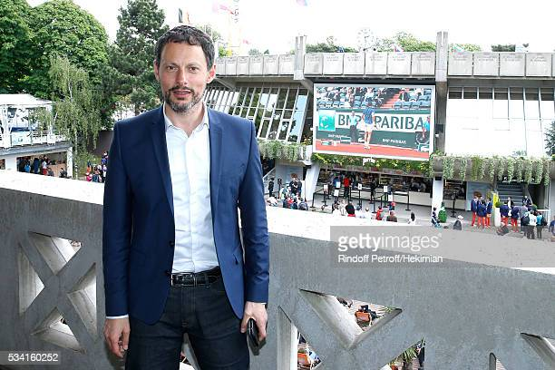 Journalist MarcOlivier Fogiel attends the 2016 French Tennis Open Day Four at Roland Garros on May 25 2016 in Paris France