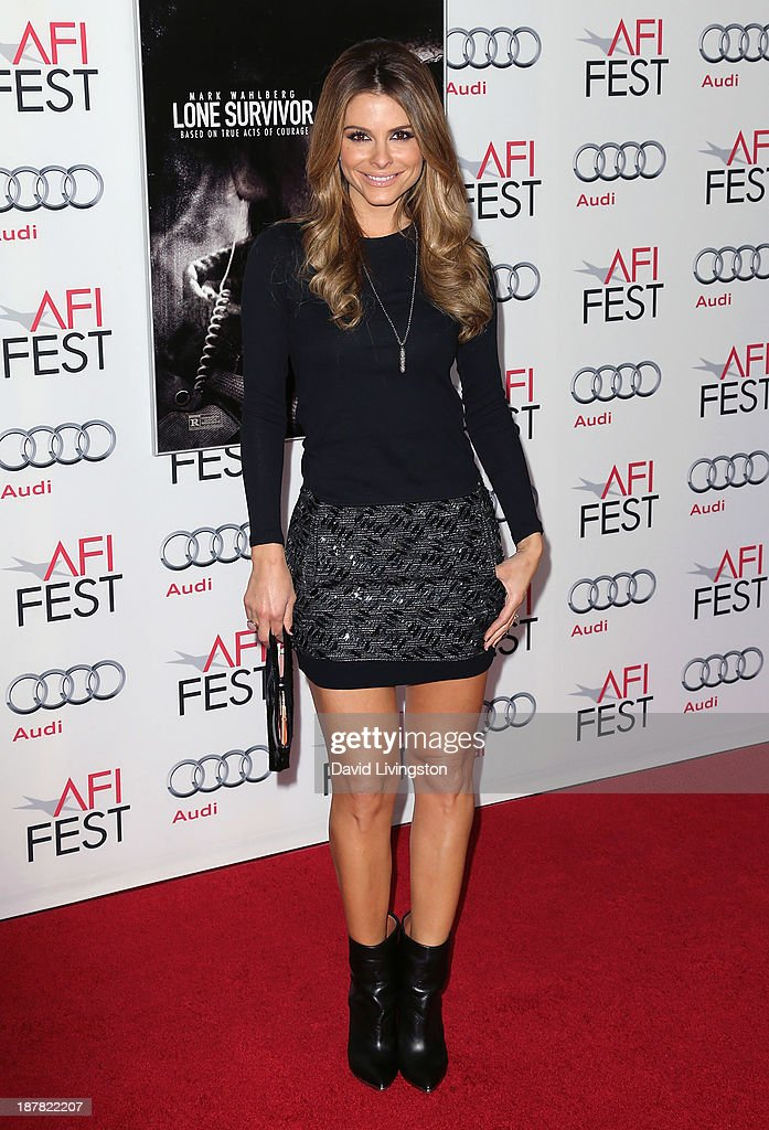 TV journalist <a gi-track='captionPersonalityLinkClicked' href=/galleries/search?phrase=Maria+Menounos&family=editorial&specificpeople=203337 ng-click='$event.stopPropagation()'>Maria Menounos</a> attends the AFI FEST 2013 presented by Audi premiere of 'Lone Survivor' at the TCL Chinese Theatre on November 12, 2013 in Hollywood, California.