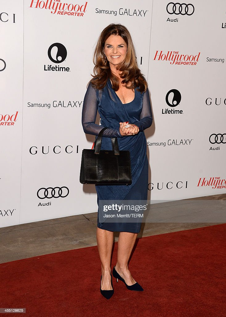 Journalist <a gi-track='captionPersonalityLinkClicked' href=/galleries/search?phrase=Maria+Shriver&family=editorial&specificpeople=179436 ng-click='$event.stopPropagation()'>Maria Shriver</a> arrives at The Hollywood Reporter's 22nd Annual Women In Entertainment Breakfast at Beverly Hills Hotel on December 11, 2013 in Beverly Hills, California.